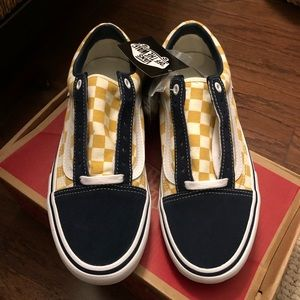 NWT Vans Old Skool Checkerboard Dress Blue 8.5 NWT